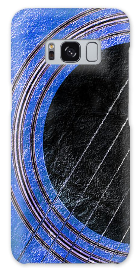 Guitar Galaxy S8 Case featuring the photograph Diptych Wall Art - Macro - Blue Section 1 Of 2 - Giants Colors Music - Abstract by Andee Design
