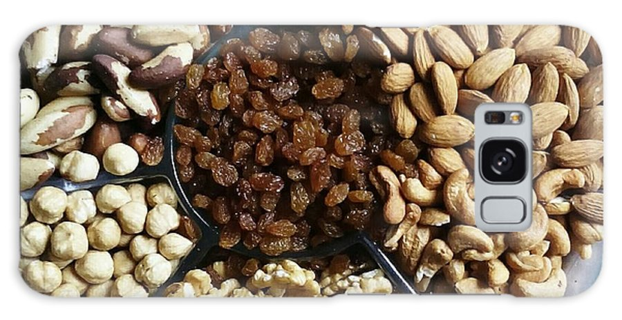Nut Galaxy Case featuring the photograph Directly Above Shot Of Dried Fruits by Sara Bindi / Eyeem