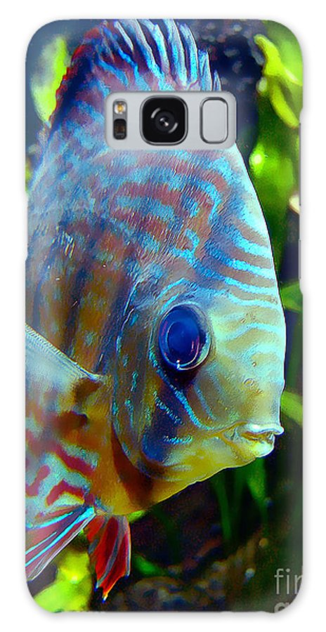 Discus Fish Galaxy S8 Case featuring the digital art Discus Fish by Wernher Krutein
