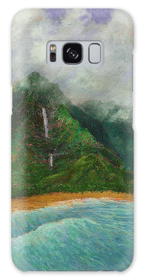 Coastal Decor Galaxy S8 Case featuring the painting Distant Falls by Kenneth Grzesik