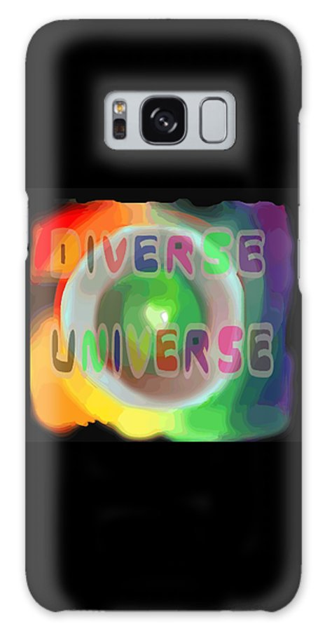Diverse Galaxy S8 Case featuring the painting Diverse Universe by Pharris Art