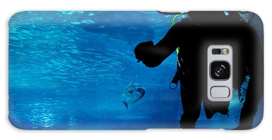 Underwater Galaxy S8 Case featuring the photograph Diving In The Ocean Underwater by Michal Bednarek