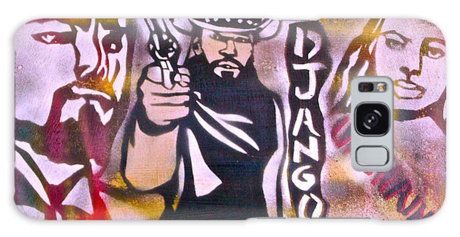 Hip Hop Galaxy S8 Case featuring the painting Django Blood Red by Tony B Conscious