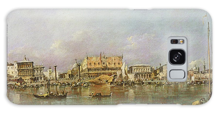 Doge's Palace Galaxy S8 Case featuring the photograph Doges Palace And View Of St. Marks Basin, Venice Oil On Canvas by Francesco Guardi