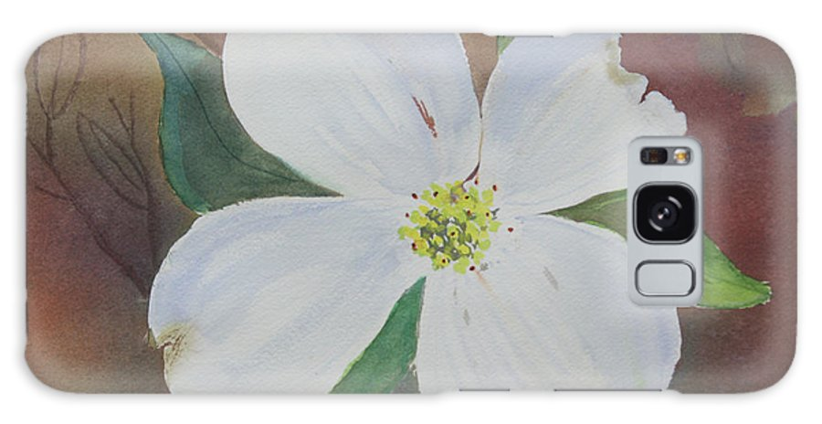 Dogwood Galaxy Case featuring the painting Dogwood Blossom by Patricia Novack