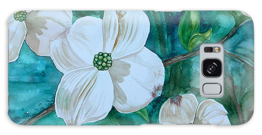 Dogwood Galaxy S8 Case featuring the painting Dogwood by Judy Bruning