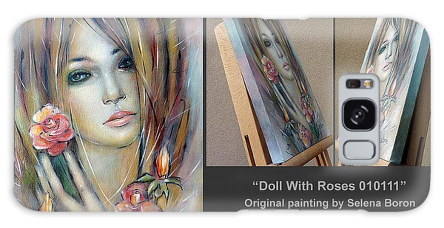 Composition Galaxy S8 Case featuring the painting Doll With Roses 010111 Comp by Selena Boron