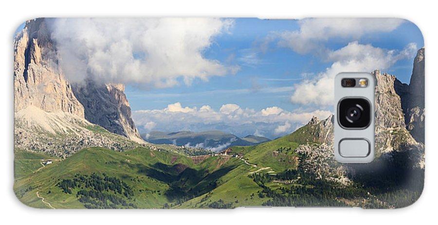 Adige Galaxy S8 Case featuring the photograph Dolomiti - Sella Pass by Antonio Scarpi