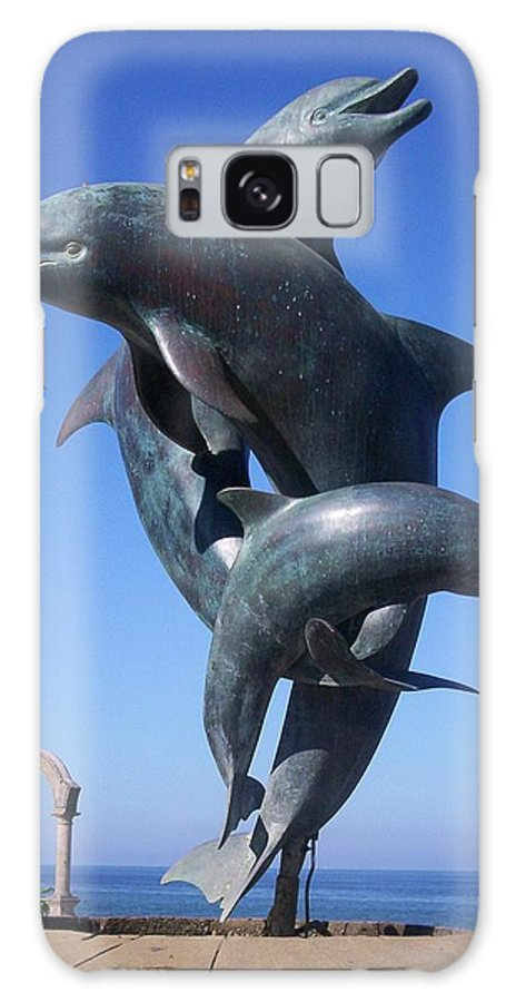 Jandrel Galaxy Case featuring the photograph Dolphin Dance by J Andrel