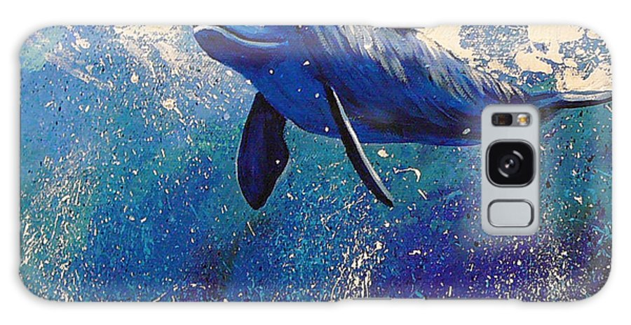 Dolphin Galaxy S8 Case featuring the painting Dolphin Play by Gayle Utter