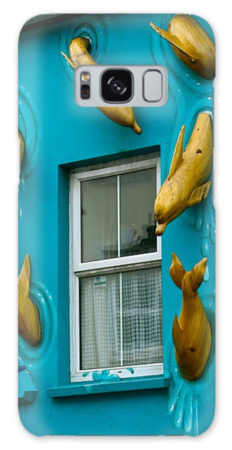 Dolphins At The Window Galaxy S8 Case featuring the photograph Dolphins At The Window by Denise Mazzocco
