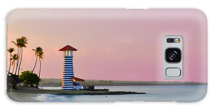 Tropical Galaxy S8 Case featuring the photograph Dominican Lighthouse by Photos By Cassandra