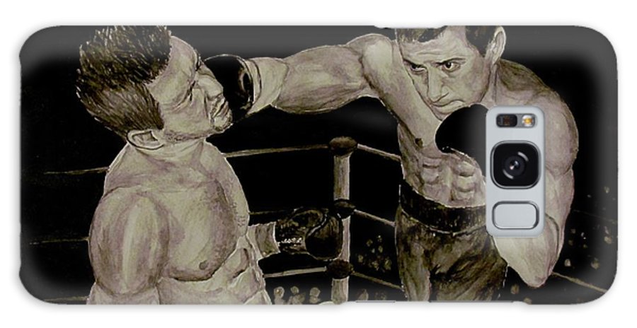 Boxing Galaxy S8 Case featuring the painting Donovan Boxing by Tamir Barkan