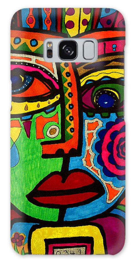 Sad Face Galaxy S8 Case featuring the painting Don't Be Sad Dear - Face - Expression by Marie Jamieson