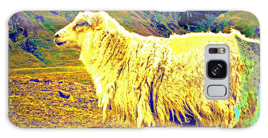 Sheep Galaxy S8 Case featuring the photograph Dont Be Sheep, You Said, But I Just Can't Help It by Hilde Widerberg