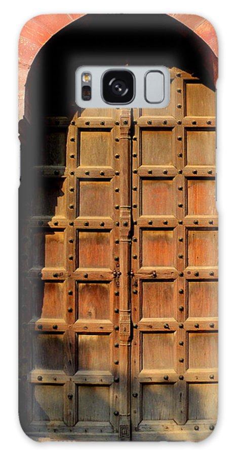 Wallpaper Buy Art Print Phone Case T-shirt Beautiful Duvet Case Pillow Tote Bags Shower Curtain Greeting Cards Mobile Phone Apple Android Old Historic Islamic Architecture Delhi Mughal Era Salman Ravish Khan Galaxy S8 Case featuring the photograph Door by Salman Ravish