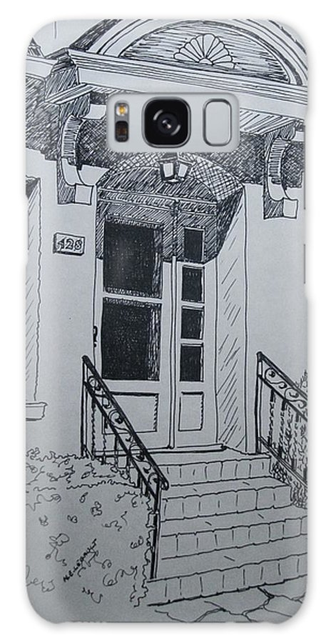 Pen And Ink Galaxy S8 Case featuring the drawing Doorway by Mary Ellen Mueller Legault