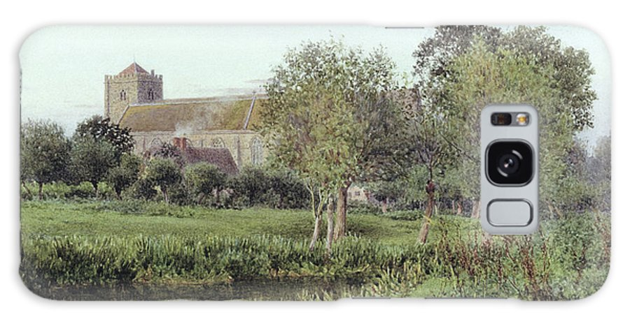 Meadow Galaxy S8 Case featuring the photograph Dorchester Abbey, Near Wallingford, Autumn Evening by Newton Bennett