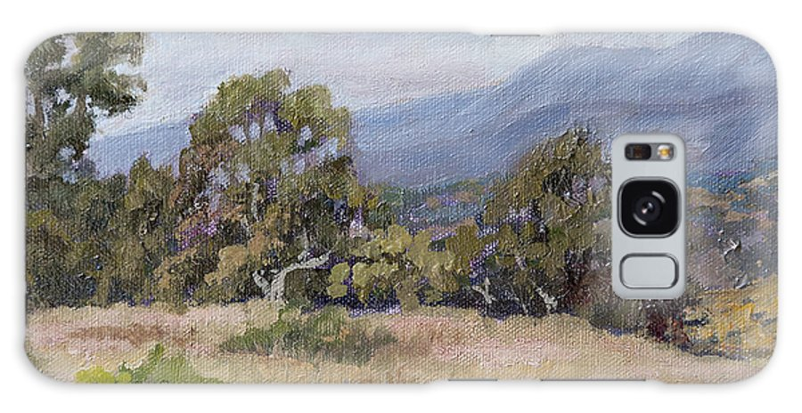Landscape Galaxy S8 Case featuring the painting Dos Pueblos Canyon by Patricia Cluche
