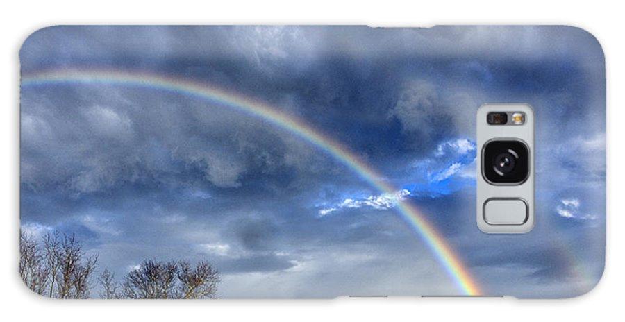 Rainbow Galaxy S8 Case featuring the photograph Double Rainbow Over Mountain by Thomas R Fletcher