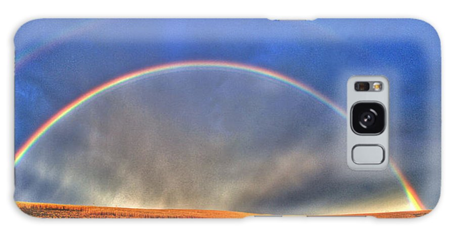 Spectacular Galaxy S8 Case featuring the photograph Double Rainbow by Scott Mahon