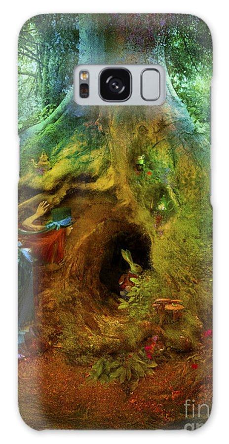 Wonderland Galaxy S8 Case featuring the digital art Down The Rabbit Hole by Aimee Stewart