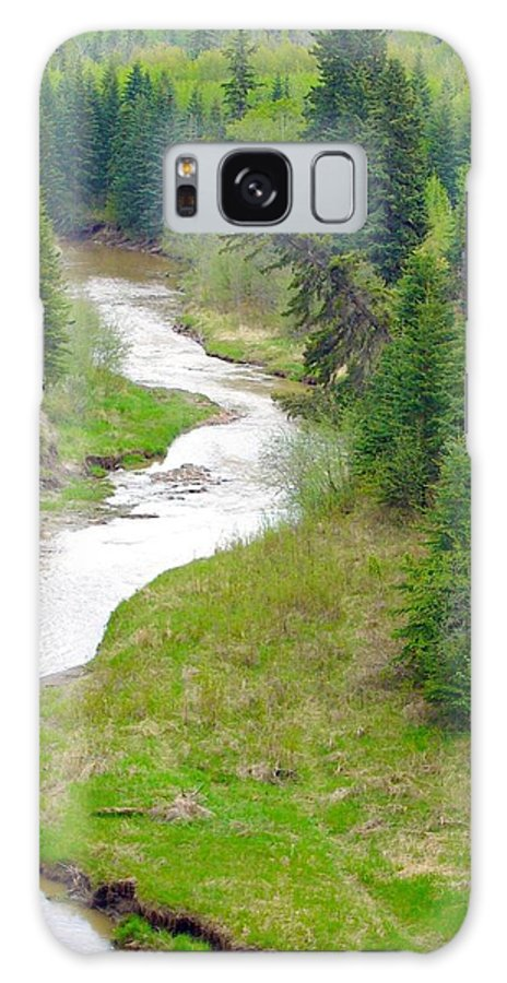 Streams Galaxy S8 Case featuring the photograph Downriver by Jim Sauchyn