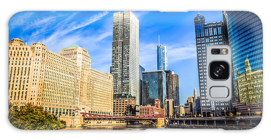 America Galaxy S8 Case featuring the photograph Downtown Chicago At Franklin Street Bridge Picture by Paul Velgos