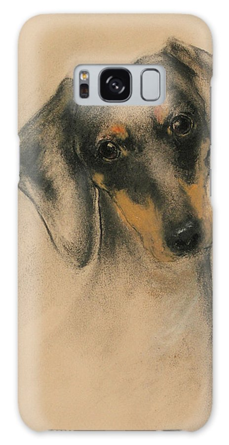 Dachshund Galaxy S8 Case featuring the drawing Doxie by Cori Solomon