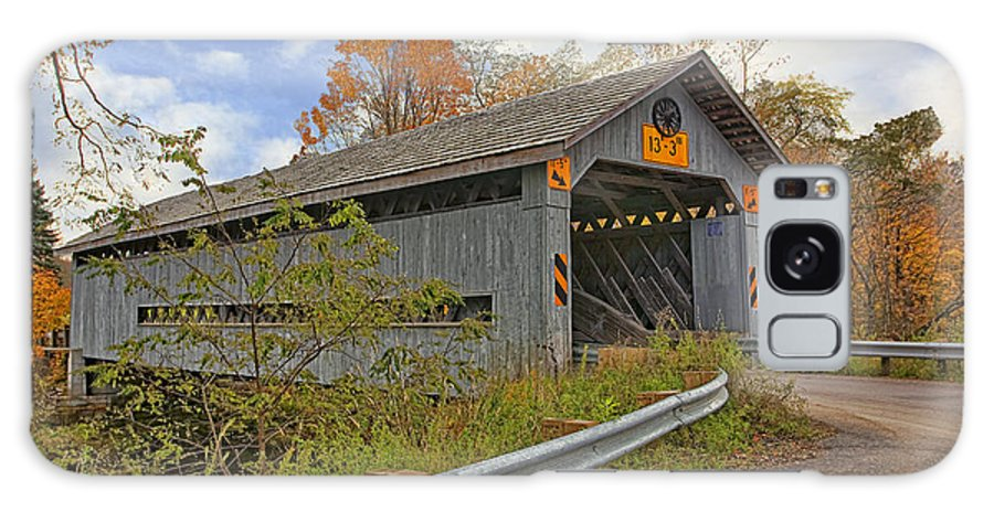 Architecture Galaxy S8 Case featuring the photograph Doyle Road Covered Bridge by Marcia Colelli
