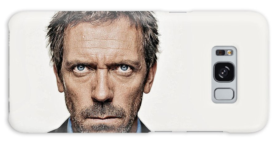 Hugh Laurie Galaxy S8 Case featuring the photograph Dr House by Galeria Trompiz