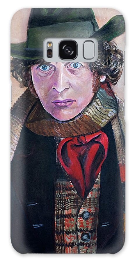 Tom Baker Galaxy S8 Case featuring the painting Dr Who #4 - Tom Baker by Tom Carlton