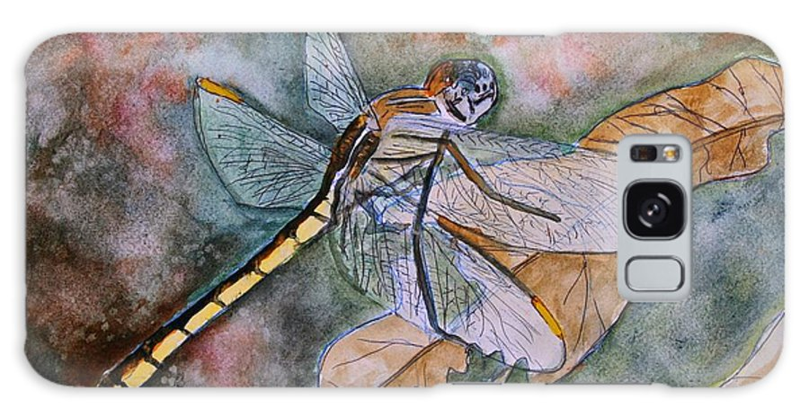 Dragonfly Galaxy Case featuring the painting Dragonfly by Derek Mccrea