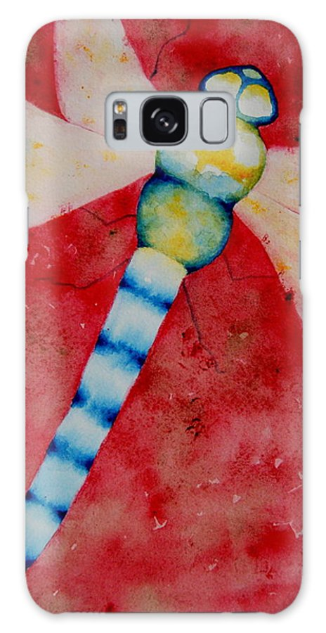 Dragonfly Galaxy S8 Case featuring the painting Dragonfly I by Sarah Rosedahl