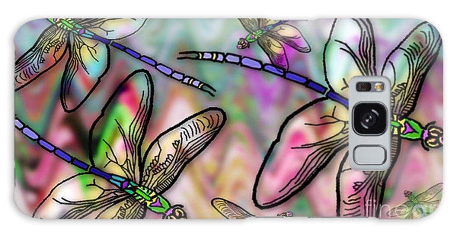 Dragonfly Galaxy S8 Case featuring the digital art Dragonfly Land by Ruta Naujokiene