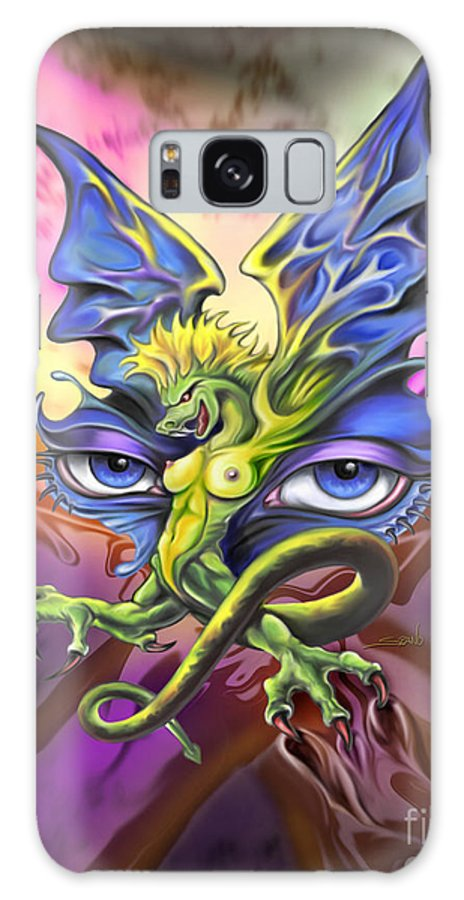 Spano Galaxy S8 Case featuring the painting Dragons Eyes By Spano by Michael Spano