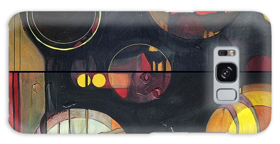 Diptych Galaxy S8 Case featuring the painting Drama Resolved 1 And 3 by Marlene Burns
