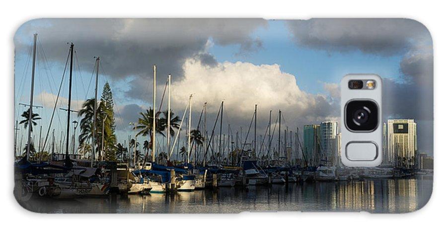 Dramatic Tropical Storm Galaxy S8 Case featuring the photograph Dramatic Tropical Storm Light Over Honolulu Hawaii by Georgia Mizuleva