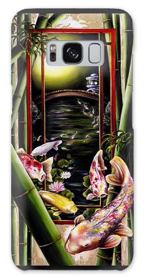 Japanese Galaxy S8 Case featuring the painting Dream by Hiroko Sakai