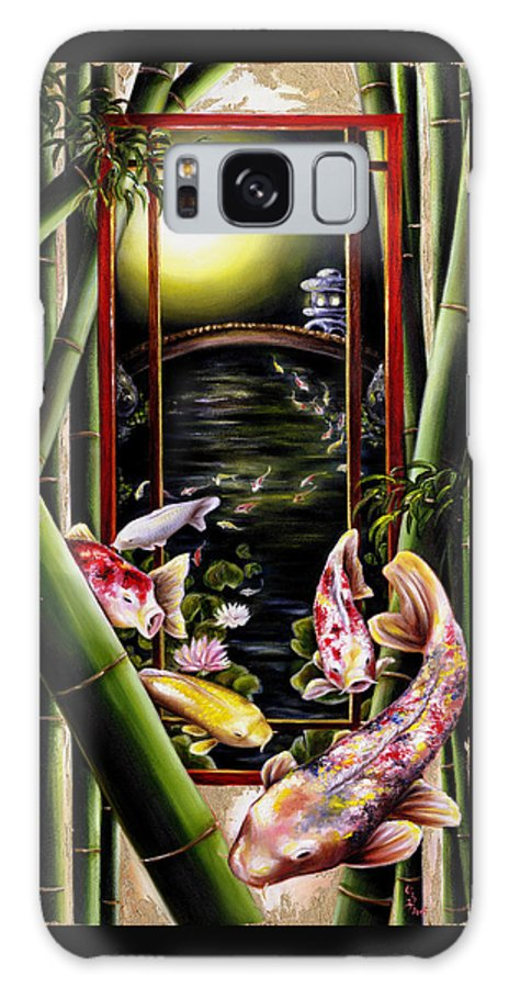 Japanese Galaxy Case featuring the painting Dream by Hiroko Sakai