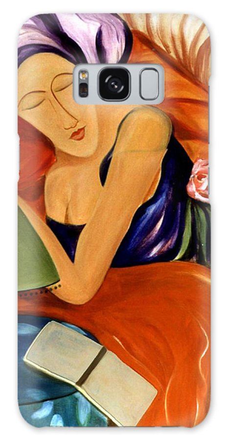 #female Galaxy S8 Case featuring the painting Dream by Jacquelinemari