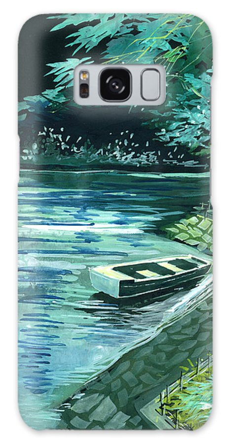 Lake Galaxy S8 Case featuring the painting Dream Lake by Anil Nene