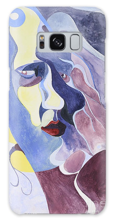 Portrait Galaxy S8 Case featuring the painting Dreamface by Aaron Joslin