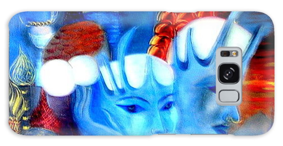 Surrealism Galaxy Case featuring the painting Dreams Of Russia by Pilar Martinez-Byrne