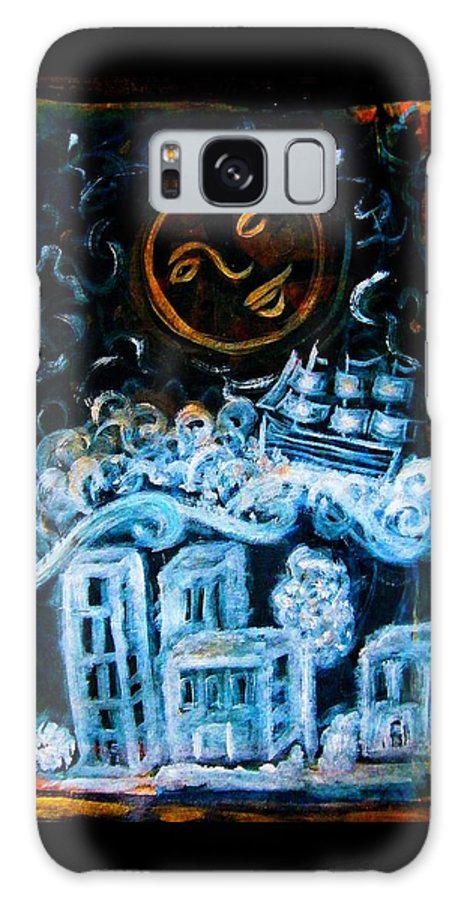 Dream Galaxy S8 Case featuring the painting Dreamsequence 3 Dreamglider by Mimulux patricia No