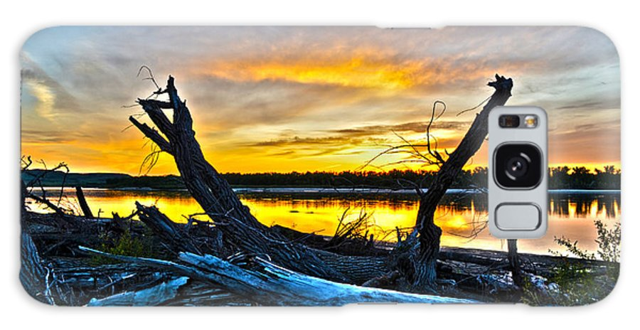Sunset Galaxy S8 Case featuring the photograph Driftwood Sunset by Brian Metz