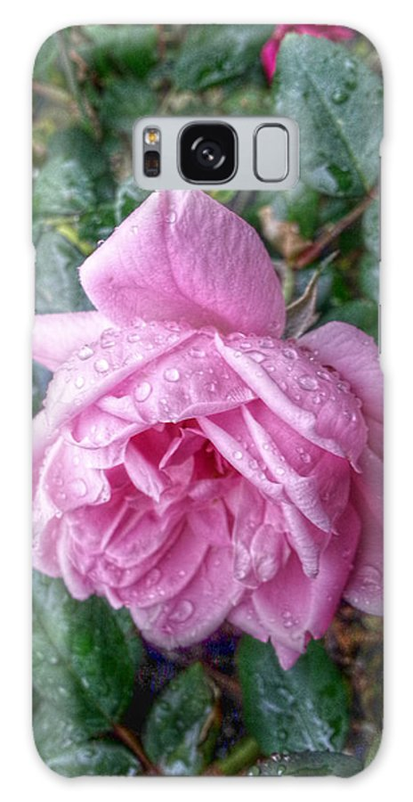 Pink Roses Galaxy S8 Case featuring the digital art Dripping Pink by Linda Unger