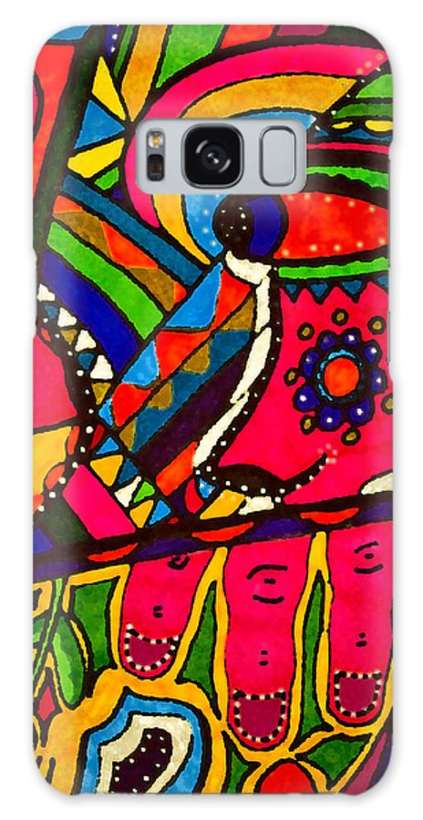 Distraction Galaxy S8 Case featuring the drawing Driven To Abstraction - Parts And Pieces by Marie Jamieson