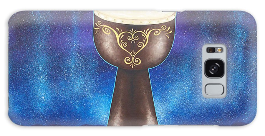 Drum Galaxy S8 Case featuring the painting Drum Healing by Tiffany Aldridge
