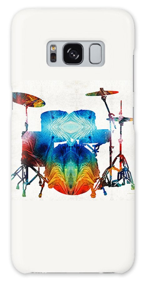 Drum Galaxy Case featuring the painting Drum Set Art - Color Fusion Drums - By Sharon Cummings by Sharon Cummings